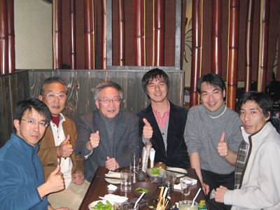 左から佐藤、曲谷、松山(編纂委員長)、福士、室井、中村